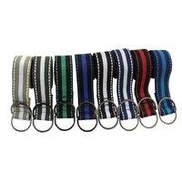 Mens Belt Alloy D-ring Fashion Belt Stripe Muti-Color Woven High Quality Young Men's Length 110cm