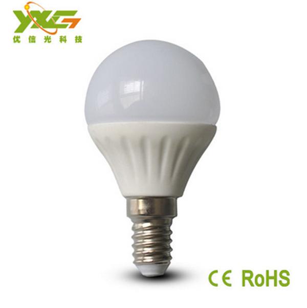 Céramique de haute qualité led lampe 3w e14 ampoules smd2835 ac100-240v 4pcs/lot 3 ans de garantie sans frais d'expédition par la poste en chine