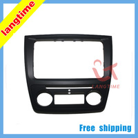 Free shipping--Car refitting DVD frame,DVD panel,Dash Kit,Fascia,Radio Frame,Audio frame for Skoda yeti (Auto AC)