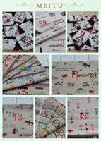 50*70cm Zakka Korea Natural Linen fabric,DIY Patchwork Fabric,Cotton Linen fabrics Handbag cloth sofa Table  4 pcs