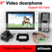 "Home 9"" LCD monitor Speakerphone intercom Color Video Door Phone Take Picture Record Access Control System"