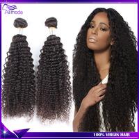 7A Brazilian virgin hair 3pcs kinky curly virgin hair extension 100% human hair weave Brazilian curly virgin hair Free Shipping