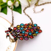 Fashion accessories vintage peacock female necklace long necklace pendant necklaces pendants best friend