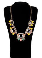 Fashion fashion accessories luxury candy color short design crystal necklace pendant necklaces pendants best friend