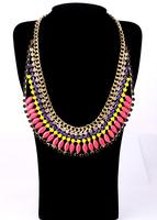 Fashion fashion accessories neon color short design false collar necklace pendant necklaces pendants best friend