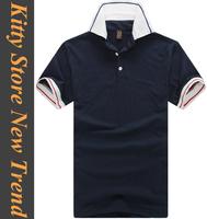2014 summer short sleeve t shirt for men turn-down collar casual t-shirts for men white/blue/green/grey M/L/XL/XXL
