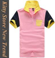 2014 summer new fashion multicolour short sleeve men tshirt casual slim mens t-shirt M/L/XL/XXL