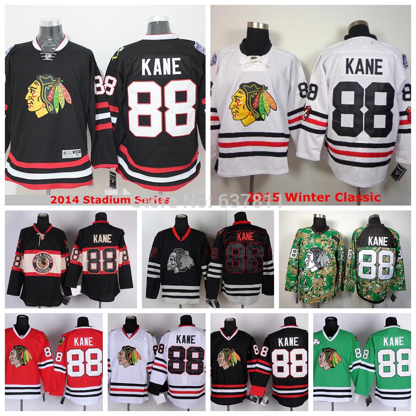 Discount Men's Chicago Blackhawks #88 Hockey Jerseys Patrick Kane Jersey Winter Classic Black New Third Stitched Jerseys China(China (Mainland))