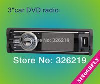 "SinoGreen  3"" HD TFT One Din car stereo Car Radio Car DVD CD  with FM/AM  MP3 Player"
