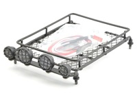 0098 Heavy Duty Large Metal Luggage Tray with Led Light  X 4 for RC4WD SCX10 CC01