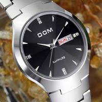 DOM luxury top brand men dive fashion quartz watches dress men analog diving wristwatch designer sapphire relogio masculino