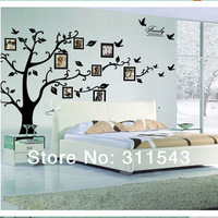 HOT SALE Photo frame tree Family Picture large Wall Stickers for home decoration Vinyl art wall Decals H94LAB Free Shipping