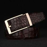 2014 fashion hot Latest Men'S classic Pin buckleLuxury retro crocodile belt  free shipping