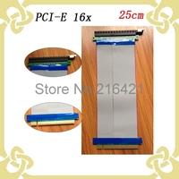 10PCS PCI-E PCI E Express 16x Riser Card Flexible Ribbon Extender Cable for Video Card Bitcoin Miner 25CM Free Shipping