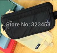 Free Shipping 2pcs/lot Safe Travel Money Passport Waist Packs Security Waist Belt Strap Holders Wallets Bags Purses