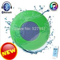 Free Shipping Portable Waterproof Wireless Bluetooth Speaker Shower Car Handsfree Receive Call Music Suction Phone Mic/Speaker-6