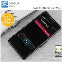 Mofi Leather Flip Case For 4.7 inch ZTE Nubia Z5S Mini Smartphone Multi Color