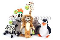 Giant Madagascar Movie Plush Toy 70cm Big size Animals stuffed dolls Hippoos/Lion/Zebra/Penguin Cartoon Toys Free shipping