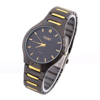 Men's Fashion Casual Watch 3colors Steel Case Sports Watches  Analog Gold Color Hours New 2014