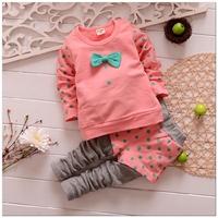 Retail 1set 2014  Hot Sale baby girls clothing set spring girls hoodie t-shirt+long pants 2pcs kids sport suit girls leggings