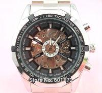 50pcs/lot freeshipping 2014 New design freeshipping hot sales steel band watch,automatic mechanical movement