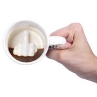 Free Shipping 1Piece Up Yours Mug Middle Finger Ceramic Mug ella ella Coffee Cup