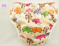 wholesale adjustable printed pink elephant swim diapers, swimming trunks for girl N5, 10 pcs/lot, 10patterns available