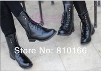 2014 women man spring and autumn genuine leather lovers martin boots snow boots male motorcycle boots shoes