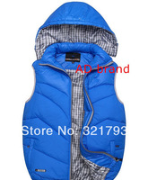 FREE SHIPPING,2014 men brand high quality hooded sports vest for autumn and winter keep warm well