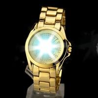 Free Shipping Fashion Watch Men Luxuxy Brand.Full Steel & Rhinestone Business Wristwatch.Women dress Watches with Big LOGO