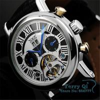 JARAGAR New 2015    Men Automatic Mechanical Watch Week Day Flywheel Stainless Steel Watch