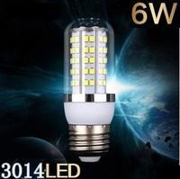 5pcs Free shipping New arrival  LED bulb  SMD 3014 E27  6w led corn bulb lamp, 120LED Warm white /white led lighting