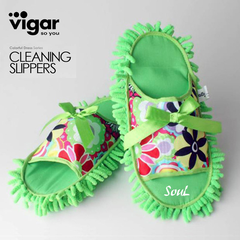 Vigar - Brand New 2014 Spain novelty households microfiber Magic Mop Cleaning Slippers easy Mops floor cleaning(China (Mainland))