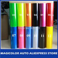 Free shipping 30cm x100cm glossy headlamp/taillight Film Green Yellow Red Black Orange Pink Blue Purple Car Light Film