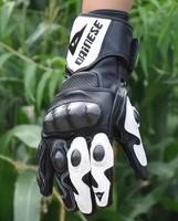 free shipping genuine leather guantes luvas winter winderproof motorcycle carbon fiber glove cross motorcross full finger gloves