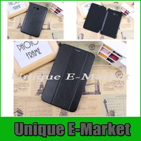 """10 Pc/lot PU Leather Business Flip Book Cover Stand Case Smart Cover For Samsung Galaxy Tab 3 Lite 7.0"""" T110 T111 Multi-Color"""