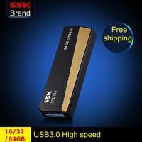 Ssk SFD213 USB 3.0 100% 64G 32GB 16GB usb flash drives pen drive push and pull type high speed usb flash drive Free Shipping