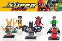 2014 NEW Avengers Alliance 6 Styles, Decool 0116-0121, Super Heros Blocks Doll Suit, Children's Assemble Toy, No Original Box