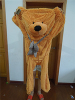 Free shipping  120cm teddy bear plush toy skin bear coat DIY plush toy wholesale and retails