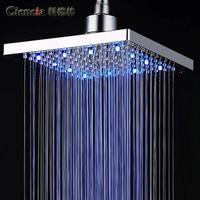 Free shipping BD136 brass chrome shower head LED bath shower rain shower head