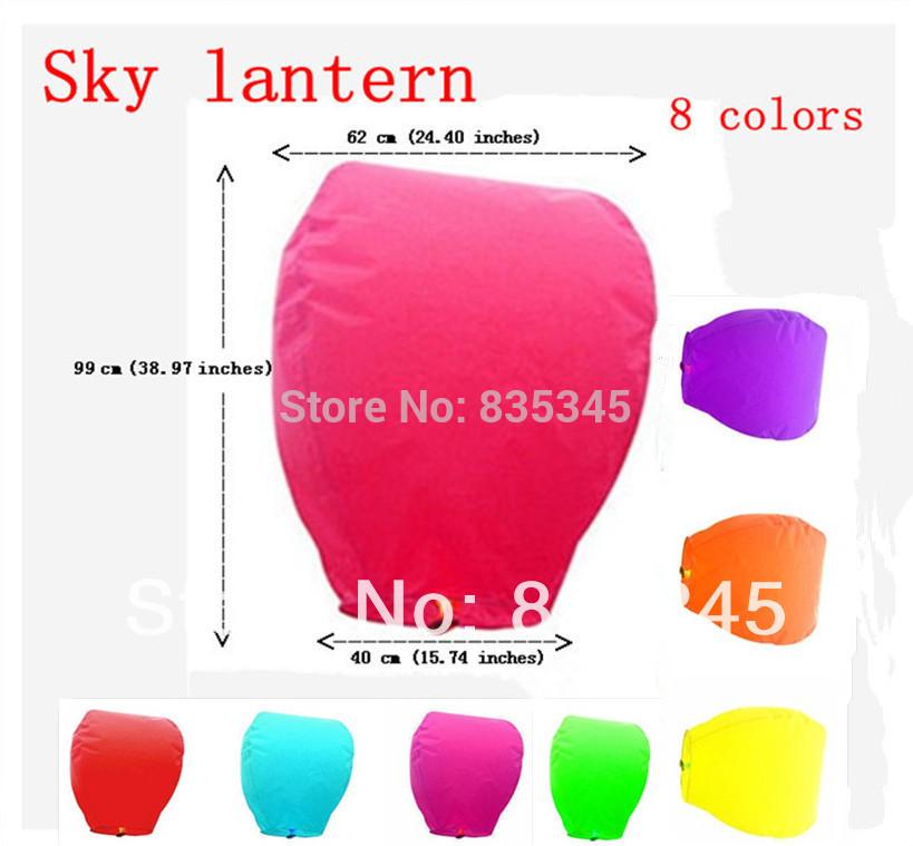 30 pcs Hot! Good Quality Wedding Sky Lanterns Oval Paper sky lantern 9 Colors Chinese lanterns Retail Wholesale Free Shipping(China (Mainland))