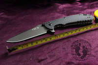 Best Quality Gift ZT 0560 Pocket Folding Tactical Knife Hinderer Flipper D2 Stainless Steel Black G10 Handle Free Shipping By SF