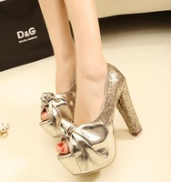 Drop Shipping hot selling lady's Sexy High Heels Peep Toe sweetness High Heels Pumps Wedding sandals Shoes  A45