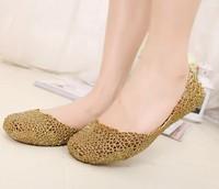 Women Jelly Shoes 2014 fashion Sandals Women's Shoes Cutout Jelly Shoes Flat Heel Single Shoes