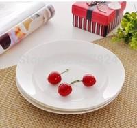 8 inch ceramic Soup plate Livingware Luncheon Plate 3pcs  bone china  Sushi slabs circle slabs sushi slabs floe sashimi plate