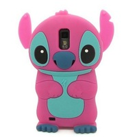 New Cartoon Cute Stitch  Style Phone  Animal Cases Soft Silicone Cell Phone Protector Cover for Galaxy S2 II T989