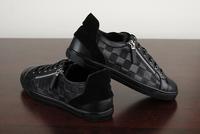 2014 louis men fashion Casual genuine leather shoes, Luxury high quality famous brand men dress shoes original box 40-46 LL-0102