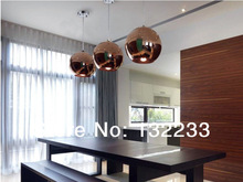 free shipping promotions 40CM copper Mirror Ball Lamp Modern Pendant Light By TOM DIXON glass pendant light e27 lamp for home(China (Mainland))