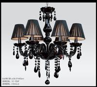 Factory wholesale modern Crystal pendant light fashion brief black pendant light restaurant lamp bedroom lamps 8008