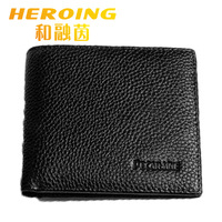 Free shipping 2014 new fashion brand style men wallet,genuine leather Cross paragraph Money clips&wallet